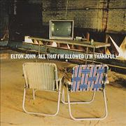 Click here for more info about 'Elton John - All That I'm Allowed (I'm Thankful)'
