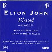Click here for more info about 'Elton John - Blessed - Blue Sleeve'