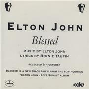 Click here for more info about 'Elton John - Blessed'