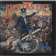 Click here for more info about 'Elton John - Captain Fantastic - Ruby Red Vinyl - EX'