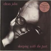 Click here for more info about 'Elton John - Sleeping With The Past - Pink hype sticker'