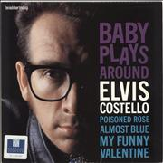 "Elvis Costello Baby Plays Around - Promo stickered UK 10"" vinyl"