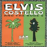 Elvis Costello Elvis Costello And The Rude 5 - 1991 USA poster