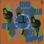 Elvis Costello Get Happy + Poster UK vinyl LP
