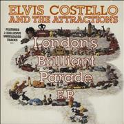 Click here for more info about 'Elvis Costello - London's Brilliant Parade EP - Stickered sleeve'