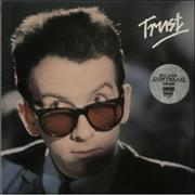 Elvis Costello Trust - stickered p/s UK vinyl LP