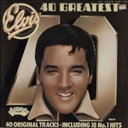Click here for more info about 'Elvis Presley - 40 Greatest Hits - EX'
