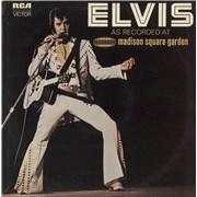 Elvis Presley As Recorded At Madison Square Garden - laminated Canada vinyl LP