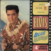 "Elvis Presley Blue Hawaii EP - 1st Germany 7"" vinyl"