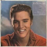 Elvis Presley Elvis - orange - woc UK vinyl LP