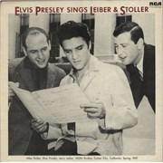 Elvis Presley Elvis Presley Sings Lieber & Stoller UK vinyl LP