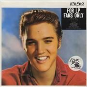 Elvis Presley For LP Fans Only Germany vinyl LP