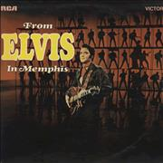 Elvis Presley From Elvis In Memphis - Orange Label UK vinyl LP