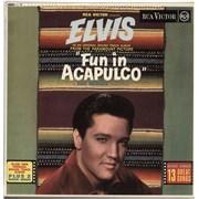 Elvis Presley Fun In Acapulco - Silver Spot UK vinyl LP