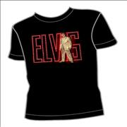Click here for more info about 'Elvis Presley - Gold Suit/Neon Logo T-Shirt - Large'