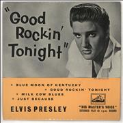 "Elvis Presley Good Rockin' Tonight E.P. - P/S - EX UK 7"" vinyl"