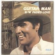 """Elvis Presley Guitar Man - Solid + Sleeve UK 7"""" vinyl"""