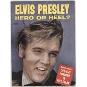 Elvis Presley Hero Or Heel + Poster Insert UK magazine