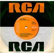 "Elvis Presley I Just Can't Help Believin' - Solid UK 7"" vinyl"
