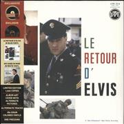 Click here for more info about 'Elvis Presley - Le Retour D'Elvis / His Hand In Mine - Blue & White Vinyl - RSD 16'