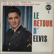 "Elvis Presley Le Retour D'Elvis 1 - 2nd France 7"" vinyl"