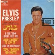 """Elvis Presley Love In Las Vegas EP Australia 7"""" vinyl"""