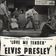 "Elvis Presley Love Me Tender EP - 2nd UK 7"" vinyl"