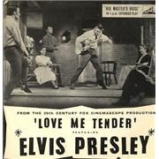"""Elvis Presley Love Me Tender EP - G UK 7"""" vinyl"""