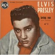 """Elvis Presley Loving You N°1 - Amour Frénétique EP France 7"""" vinyl"""