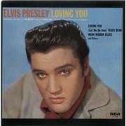 Elvis Presley Loving You UK vinyl LP