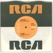 """Elvis Presley Polk Salad Annie - Solid UK 7"""" vinyl"""