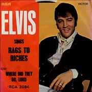 Click here for more info about 'Elvis Presley - Rags To Riches - P/S'