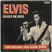 "Elvis Presley Raised On Rock - Wide + Sleeve USA 7"" vinyl"