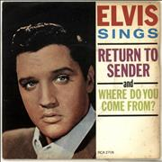 Click here for more info about 'Elvis Presley - Return To Sender - EX'