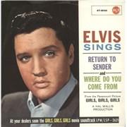 """Elvis Presley Return To Sender Germany 7"""" vinyl"""