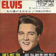 Click here for more info about 'Elvis Presley - She's Not You'
