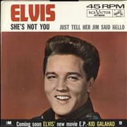 "Elvis Presley She's Not You USA 7"" vinyl"