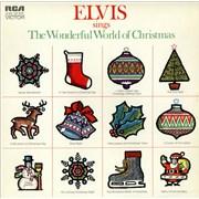 Elvis Presley Sings The Wonderful World Of Christmas - Orange Label UK vinyl LP