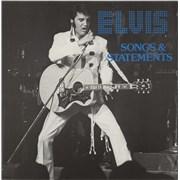 Elvis Presley Songs & Statements Netherlands vinyl LP