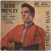 "Elvis Presley Strictly Elvis E.P. - 2nd - EX UK 7"" vinyl"