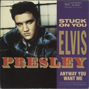 "Elvis Presley Stuck On You UK 7"" vinyl"