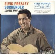 "Elvis Presley Surrender USA 7"" vinyl"