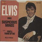 Click here for more info about 'Elvis Presley - Suspicious Minds - Solid + P/S'