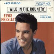 "Elvis Presley Wild In The Country USA 7"" vinyl"