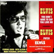 Elvis Presley You Don't Have To Say You Love Me UK CD single