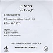Click here for more info about 'Elviss - Not Enough'