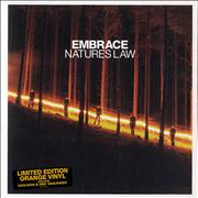 Click here for more info about 'Embrace - Nature's Law - Orange Vinyl'