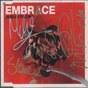 Click here for more info about 'Embrace - Out Of Nothing - Album Promo - Autograpged'