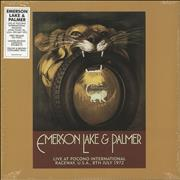 Click here for more info about 'Emerson Lake & Palmer - Live at Pocono Raceway, USA, 1972 - RSD19 - Brown & Yellow Vinyl'