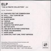 Click here for more info about 'Emerson Lake & Palmer - The Ultimate Collection'
